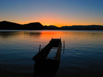 Sunrise On Lake Royalty Free Stock Photos