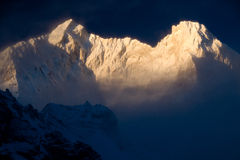 Sunrise On Makalu Royalty Free Stock Image