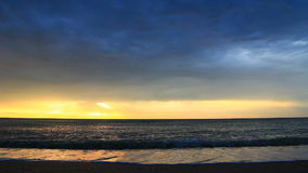 Sunrise On The Beach Video With Sound Royalty Free Stock Photos