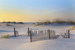 Sunrise On White Sand Florida Beach Stock Photo