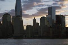 Sunrise on One World Trade Center (1WTC), Freedom Tower, New York City skyline, New York City, New York, USA Stock Images