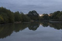 Sunrise at the Ornamental Lake stock images