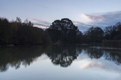 Sunrise at the Ornamental Lake stock photo