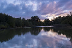 Sunrise at the Ornamental Pond, Southampton Common. Sunrise on the Ornamental Pond at Southampton Common, Hampshire, UK Royalty Free Stock Photo