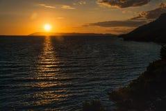 Sunrise over Adriatic Sea, Croatia. Photo of Sunrise over Adriatic Sea, Croatia Royalty Free Stock Image