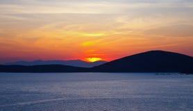 Sunrise over Aegean sea. Greece, 2009 Royalty Free Stock Images