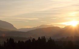 Sunrise over Alps Royalty Free Stock Photo