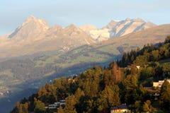 Sunrise over Alps Stock Photos