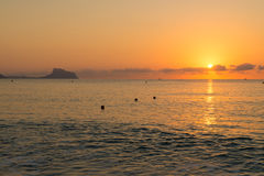 Sunrise over Altea bay Stock Photos