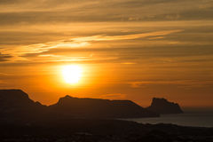 Sunrise over Altea Bay Stock Image