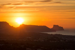Sunrise over Altea Bay Royalty Free Stock Image