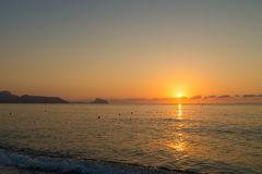 Sunrise over Altea coast Stock Photography
