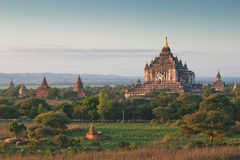 Sunrise over ancient Bagan, Myanmar Stock Photos