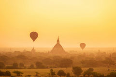 Sunrise over ancient Bagan, Myanmar Stock Photography