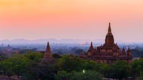 Sunrise over ancient Bagan, Myanmar Royalty Free Stock Photo