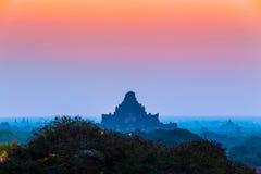 Sunrise over ancient Bagan, Myanmar Stock Photo
