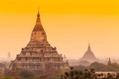 Sunrise over ancient Bagan, Myanmar Stock Photography