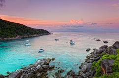 Sunrise over the Andaman Sea. Similan's island, Thailand Stock Photography