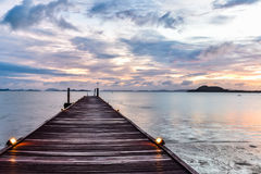 Sunrise over the Andaman Sea. Taken at Coconut Island Resort, Phuket Royalty Free Stock Photo