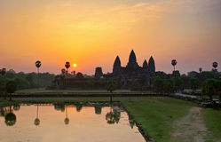 Sunrise over Angkor Wat Stock Images