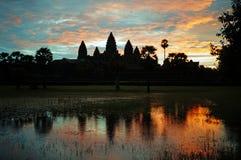 Sunrise over angkor wat. Cambodia Stock Image