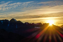 Sunrise over Aoraki/Mount Cook Stock Image