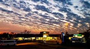 Sunrise over Arcon Shopping Center. Vereeniging South Africa stock photography