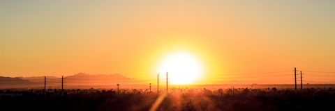 Sunrise over Arizona Stock Image