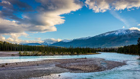 Sunrise over the Athabaska River Royalty Free Stock Images