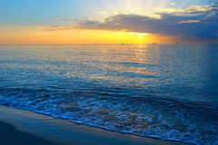 Sunrise over Atlantic ocean. Miami, FL, USA Royalty Free Stock Images