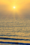 Sunrise over Atlantic ocean Stock Image