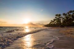 Sunrise over Atlantic ocean on Bavaro Beach Royalty Free Stock Photography