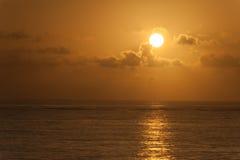 Atlantic ocean sunrise. Sunrise over Atlantic ocean in dominican republic Royalty Free Stock Photo