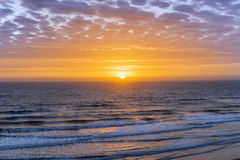 Sunrise over Atlantic ocean. With dramatic sky in Florida, aerial view Stock Photo