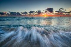 Sunrise over Atlantic Ocean in Florida. Royalty Free Stock Image