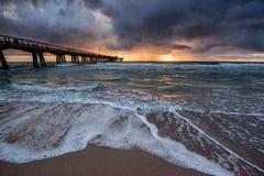 Sunrise over Atlantic Ocean in Florida. Stock Images