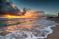 Sunrise over Atlantic Ocean in Florida. Stock Image