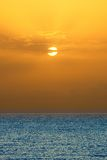 Sunrise over Atlantic ocean. Fuerteventura Royalty Free Stock Images