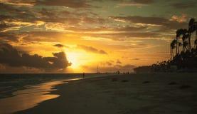 Sunrise over Atlantic ocean, Hispaniola island Royalty Free Stock Images