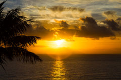 Sunrise over the atlantic ocean. Madeira, Portugal Stock Photo