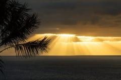 Sunrise over the atlantic ocean Stock Photos