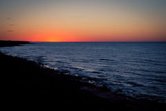 Sunrise over atlantic ocean. Sunrise over the atlantic ocean in prince edward island Stock Photos