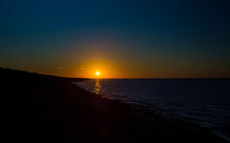 Sunrise over atlantic ocean. Sunrise over the atlantic ocean in prince edward island Stock Photography