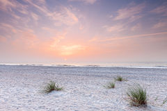 Sunrise over atlantic ocean in south florida. Fernandina beach, Florida, USA Stock Photos