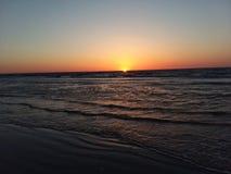 Sunrise over Atlantic Ocean. Sun rising up over the Atlantic Ocean Royalty Free Stock Photos