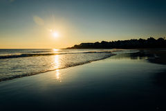 Sunrise over the Atlantic Ocean in York, Maine. Royalty Free Stock Photo