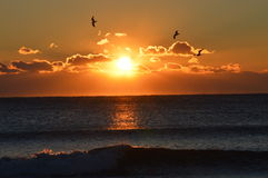 SUNRISE OVER THE ATLANTIC Stock Images