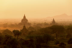 Sunrise over Bagan. Stock Photos