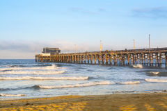 Sunrise over Balboa Pier Stock Image