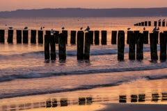 Sunrise over the Baltic Sea Stock Photo